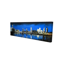 Canvas 16 x 48 - 3D - Blue skyline of london
