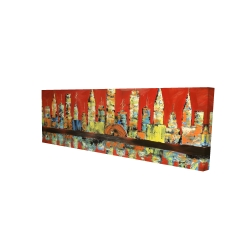 Canvas 16 x 48 - 3D - Red abstract skyline