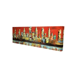 Canvas 16 x 48 - 3D - View of red city