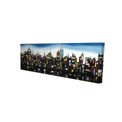 Canvas 16 x 48 - 3D - Colorful buildings