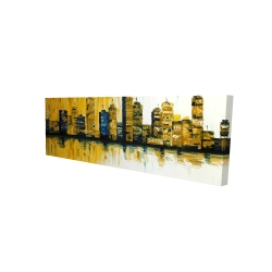 Canvas 16 x 48 - 3D - Yellow abstract skyscrapers