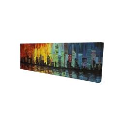 Canvas 16 x 48 - 3D - City with color tones
