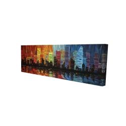 Canvas 16 x 48 - 3D - Colorful cityscape