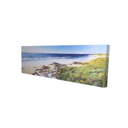 Canvas 16 x 48 - 3D - Walk to the beach