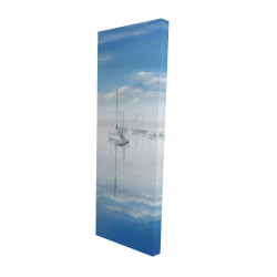 Canvas 16 x 48 - 3D - Sailboats on the quiet lake