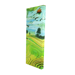 Canvas 20 x 60 - 3D - Rice fields of vietnam