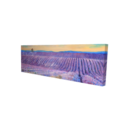 Canvas 16 x 48 - 3D - Landscape of a field of lavender