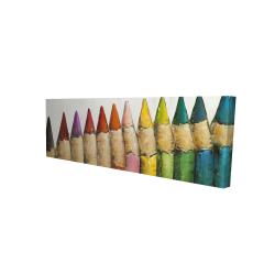 Canvas 16 x 48 - 3D - Color pencils standing