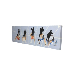 Canvas 20 x 60 - 3D - On your marks, get set, go!