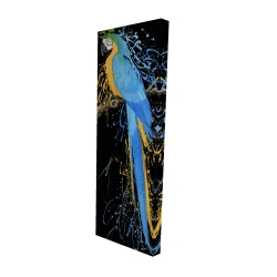 Canvas 16 x 48 - 3D - Blue macaw parrot