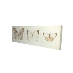 Canvas 16 x 48 - 3D - Sepia butterflies