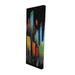 Canvas 16 x 48 - 3D - Abstract tall buildings