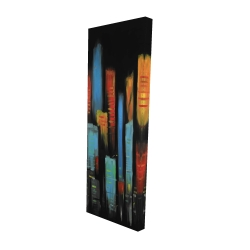 Canvas 16 x 48 - 3D - Abstract and colorful tall buildings