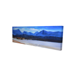 Canvas 16 x 48 - 3D - Scotland calm eddies