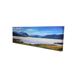 Canvas 16 x 48 - 3D - Scottish highlands by a beautiful day