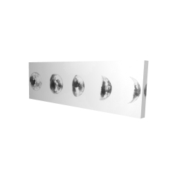 Canvas 16 x 48 - 3D - Black and white eclipse