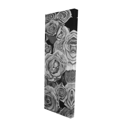 Canvas 16 x 48 - 3D - Grayscale roses