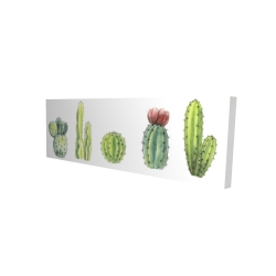 Canvas 16 x 48 - 3D - Tiny cactus set
