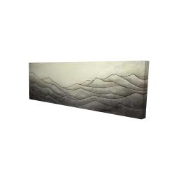 Toile 16 x 48 - 3D - Montagnes désaturés