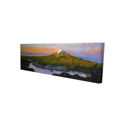 Canvas 20 x 60 - 3D - Mount fuji landscape