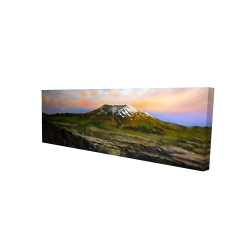 Canvas 16 x 48 - 3D - Valley and mountains landscape