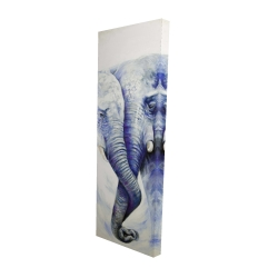 Canvas 16 x 48 - 3D - Elephant couple loving each other