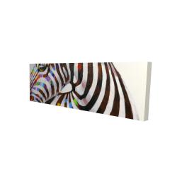Canvas 16 x 48 - 3D - Colorful zebra