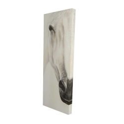 Canvas 16 x 48 - 3D - Half portrait of a peaceful horse