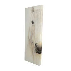 Canvas 16 x 48 - 3D - Half portrait of a smiling horse
