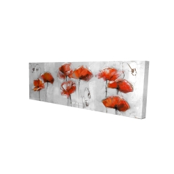 Canvas 16 x 48 - 3D - Red flowers