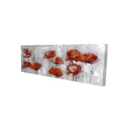Canvas 16 x 48 - 3D - Abstract poppies