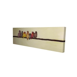 Canvas 16 x 48 - 3D - Bird family