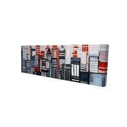 Canvas 16 x 48 - 3D - Geometric urban landscape