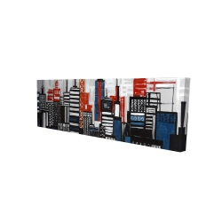 Canvas 16 x 48 - 3D - Geometric towers and buildings