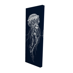 Canvas 16 x 48 - 3D - Detailed jellyfish illustration