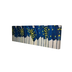 Canvas 16 x 48 - 3D - Abstract blue flowers