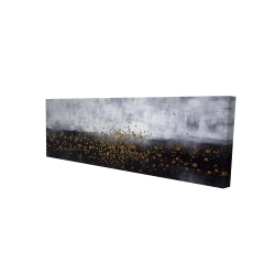 Canvas 16 x 48 - 3D - Gold paint splash on gray background