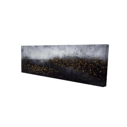 Canvas 16 x 48 - 3D - Two shades of gray with gold dots