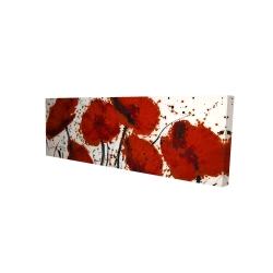 Canvas 16 x 48 - 3D - Abstract paint splash red flowers