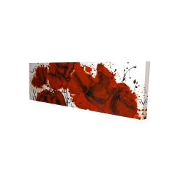 Canvas 16 x 48 - 3D - Abstract red flowers field