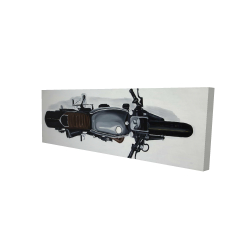 Canvas 16 x 48 - 3D - Overhead view of a motorbike
