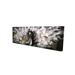Canvas 16 x 48 - 3D - Beautiful spotted peacock