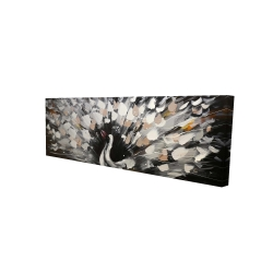 Canvas 16 x 48 - 3D - Spotted abstract peacock