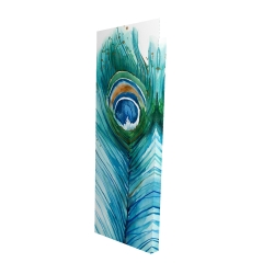 Canvas 16 x 48 - 3D - Long peacock feather