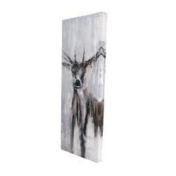 Canvas 16 x 48 - 3D - Winter abstract deer