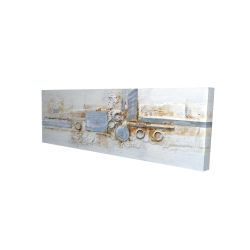 Canvas 16 x 48 - 3D - Abstract shape with metal looking finish