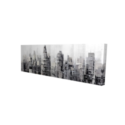 Canvas 16 x 48 - 3D - Gray city with splash