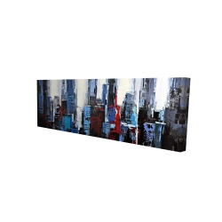 Canvas 16 x 48 - 3D - Abstract blue city