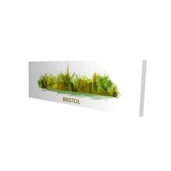 Canvas 16 x 48 - 3D - Paint splash silhouette of bristol