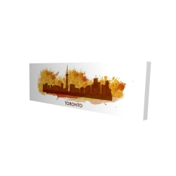 Canvas 16 x 48 - 3D - Paint splash silhouette of toronto